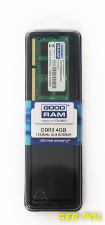 SODIMM GOODRAM / DDR3 / 4 GB / 1333 MHz / CL9